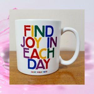 FIND JOY IN EACH DAY Ceramic Coffee Mug BNIB